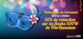 Offre spéciale Carnaval avec -20% sur flashs500W
